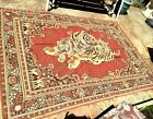 """Vintage Oriental Persian Rug (72"""" by 104"""") mother tiger & cubs"""