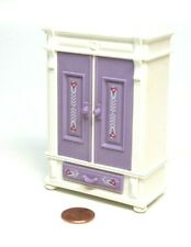 Playmobil Victorian Dollhouse Bedroom Purple Armoire Wardrobe Furniture 5325