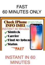 iPHONE✅iPad Info(Lock/unlock,Network,icloud Status,clean/Barred)check Service