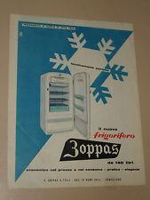 ZOPPAS FRIGORIFERO ELETTRODOMESTICO=ANNI '50=PUBBLICITA=ADVERTISING=WERBUNG=400