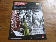DOMINIQUE A - Publicité de magazine / Advert VERS LES LUEURS !!!