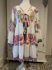 Tunika / Kleid Boho Ibiza Hippie Neu Weiss