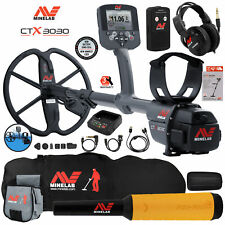 Minelab Ctx 3030 Waterproof Metal Detector with Pro Find 15, Carry Bag, Pouch