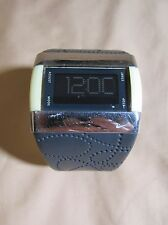 NIKE MERGE STEP DARK GRAY & YELLOW WATCH WITH FLORAL BAND WC0025 H2O RESIST