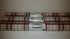 Lot Of 3 Warner CO Plaid Wall Paper AFR7153