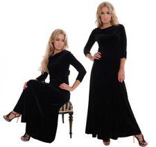 Autumn Long Velvet Dresses for Women