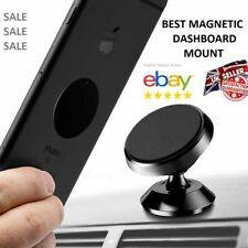 Metal Magnet Mobile Phone Car Holder Air Vent Mount With 2 Spare Adhesive Plates