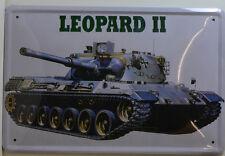 LEOPART II  WK2 KRIEG PANZER  BLECHSCHILD 20 X 30 CM (BS 294)