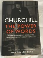 Churchill The Power Of Words Martin Gilbert Bantam 2012 Hardback Free  Shipping