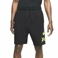 Nike Catching Air Alumni Shorts Black Volt CW4707-010 Men's NWT