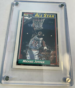 1992 Topps Michael Jordan NBA Basketball Card #115 Near Mint In Screw Case