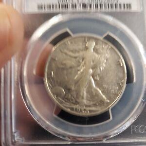 1938-D Walkng Liberty Half Dollar F12 PCGS Key Date Only 491,600 minted!