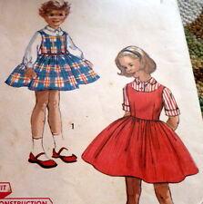 *LOVELY VTG 1950s GIRLS BLOUSE & JUMPER Sewing Pattern 6