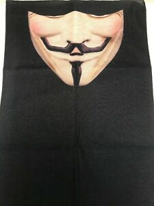 3D Anonymous Face Tube Bandana Scarf Neck Head Face Cover Multi use Outdoor Ski