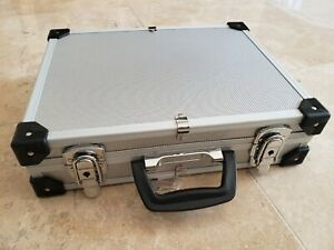 Aluminum Hard Case Small Business Briefcase with foam insert lightweigh tool box