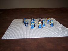 LEGO  - LOT OF 10 - MINER MINIFIGURES - WIITH WEAPONS - LIGHTLY PLAYED WITH