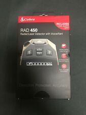 Cobra Rad 450 Radar Laser Detector Ka IVT Filtering Voice Alerts FREE SHIPPING