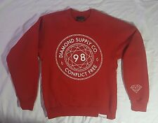 Diamond Supply Co. Conflict Free Red Pullover Crewneck Sweater Size Small