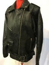 "Genuine Leather Women Heavy Motorcyle Riding Jacket Size XXL ""God Bless America"""