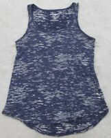 Old Navy Sleeveless Tank Top T-Shirt Women's Small Blue Gray Cotton Polyester