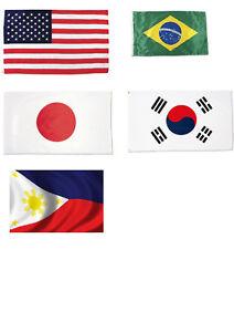 NEW! Choose a Banner Flag  3ft x 5ft - USA Japan Brazil South Korea Phillipines