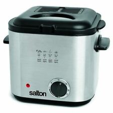Salton DF1539 Easy Clean Compact Deep Fryer Stainless Steel 1.2 Liters