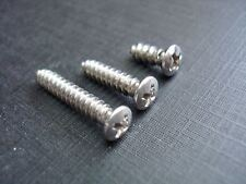 30 Chevy Buick Cadillac #8 w/#6 stainless phillips oval garnish trim screws GM