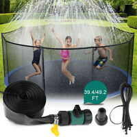 39ft/49ft Trampoline Sprinkler Kids Summer Outdoor Water Toy Fun Waterpark Spray