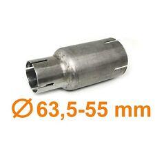 Edelstahl Auspuff Rohr Reduzierstück Verbindung Adapter 63 5mm auf 45mm