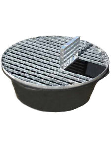 Water Feature Pebble Pool - Reinforced Heavy Duty 90cm Diameter 150L With Grid