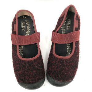 Keen wool sienna fired brick red slip on mary jane outdoor walking shoes 8.5