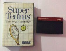 Jeu Master Systems Super Tennis The Sega Cartridge
