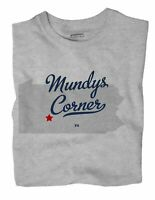 Mundys Corner Pennsylvania PA T-Shirt MAP