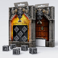 Dwarven Metal & Black 5 d6 dice by Q-workshop