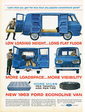 Vintage 1963 Magazine Ad Ford Econoline Van More Miles Per Tankful And Per Tire