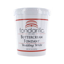 Fondarific Wedding White Buttercream Fondant, 2 lb.