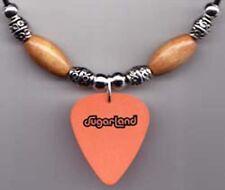 Sugarland Orange Cowboy Hat Guitar Pick Necklace - 2007 Tour