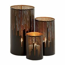 Woodland Imports 22182 Uniquely Distinct Metal Candle Holders (set of 3)