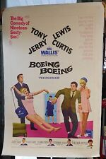 Boeing Boeing stars Tony Curtis, Jerry Lewis Linenbacked 27x41