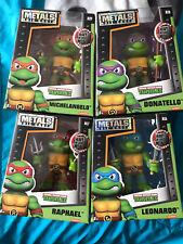 """Jada Toys - Teenage Mutant Ninja Turtles - Die Cast Metal Figure Set 4"""" TMNT Lot"""