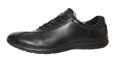 ECCO Women's Black Leather Lace Up Sneakers 2566 Size 40