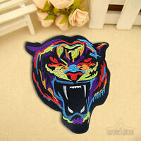 Embroidery Rainbow Tiger Sew On Iron On Patch Badge Bag Clothes Fabric Applique
