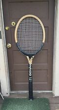 Vintage Giant Store Display Wood Tennis Racquet Sign, Donnay, Bjorn Borg