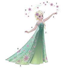 RoomMates RMK3017GM - Disney Frozen Elsa Wandtattoo 116 cm