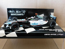 Minichamps 1:43 Gianmaria Bruni wilux Minardi Cosworth Showcar F1 2004