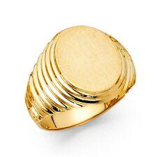 14K yellow gold Oval Men's Ring EJMR29812