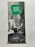 Vintage Travel Brochure For The California Western Railroad -The Skunk Train