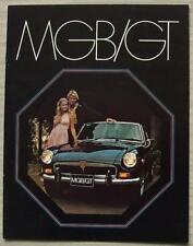 MG MGB GT USA Sales Brochure Oct 1972-73 #AMGBT 400M 10/72