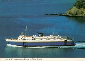 M V Bluenose on route to Nova Scotia postcard (Coastal Photo Scenics, 530) 1960s