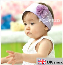 BABY Fiore Cerchietto Infant Toddler BOY GIRL COTTON HEAD BAND Viola UK Venditore